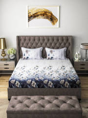 aura-grey-off-white-floral-flat-180-tc-cotton-1-king-bedsheet-with-2-pillow-covers