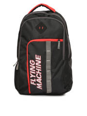 flying-machine-men-black-brand-logo-printed-backpack