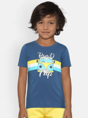 provogue-boys-blue-printed-round-neck-t-shirt