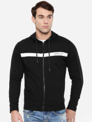 wrangler-men-black-solid-hooded-sweatshirt