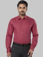 raymond-men-red-slim-fit-solid-formal-shirt
