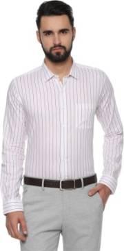 van-heusen-men-striped-formal-white-shirt