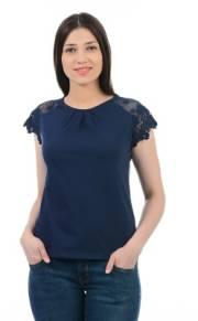pepe-jeans-casual-cap-sleeve-solid-women-dark-blue-top