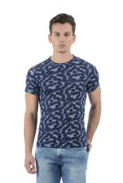 pepe-jeans-dark-blue-printed-round-neck-t-shirt