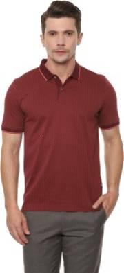 van-heusen-printed-men-polo-neck-maroon-t-shirt