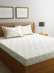 bombay-dyeing-off-white-floral-104-tc-cotton-1-queen-bedsheet-with-2-pillow-covers