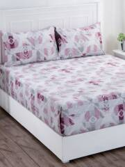 maspar-pink-off-white-abstract-210-tc-cotton-1-king-bedsheet-with-2-pillow-covers