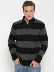 flying-machine-grey-melange-lambswool-striped-sweater