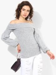 dorothy-perkins-women-grey-melange-solid-off-shoulder-sweater