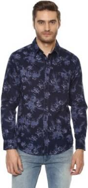 mufti-men-floral-print-casual-dark-blue-shirt-7
