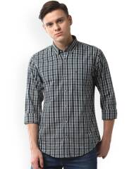 peter-england-casuals-men-green-off-white-slim-fit-checked-casual-shirt