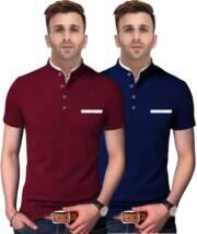fastcolors-solid-men-mandarin-collar-blue-maroon-t-shirtpack-of-2-22