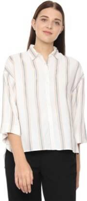 van-heusen-women-striped-casual-white-shirt