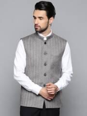 louis-philippe-men-grey-black-striped-regular-fit-wool-nehru-jacket-14