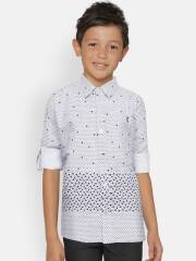 gini-and-jony-boys-white-navy-blue-regular-fit-printed-casual-shirt