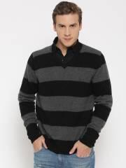flying-machine-grey-melange-lambswool-striped-sweater-4
