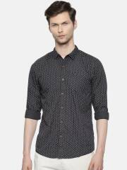 wrangler-men-charcoal-grey-slim-fit-printed-casual-shirt-8